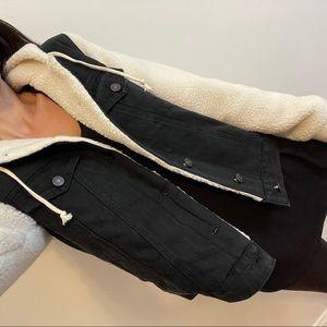 Reposh Phoenix Sherpa Denim Jacket | Black